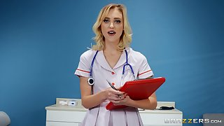 Nurse Chloe Cherry gets fucked by hard friend's dick in the hospital