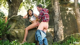 Adria Rae and the brush sweetheart head to the woods be fitting of a first-rate burgeoning